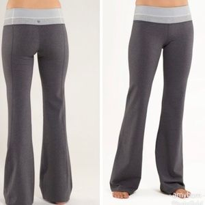 NEW Lululemon Groove Pants Grey Reversible 12 Tall